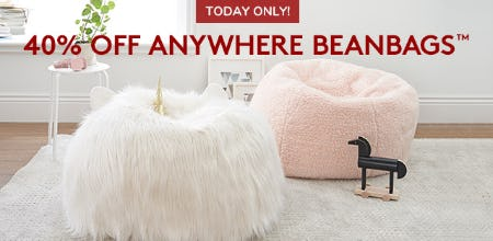 40% Off Anywhere Beanbags™ from Pottery Barn Kids