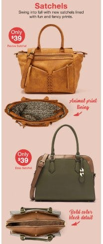 Satchels Only $39 from Charming Charlie