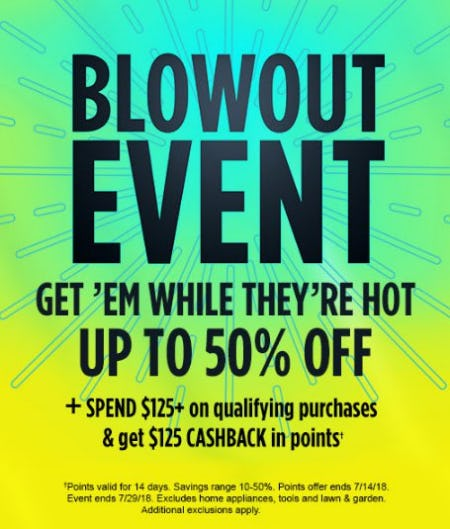Blowout Event up to 50% Off from Sears