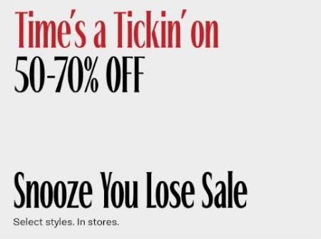 Snooze You Lose Sale: 50–70% Off from Aritzia
