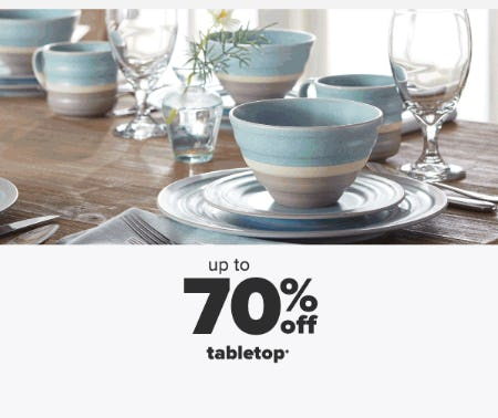 Up to 70% Off Tabletop from Belk