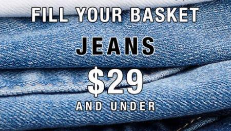 Jeans $29 & Under from Garage