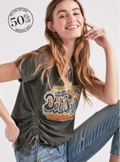 BOGO 50% Off Graphic Tees from Lucky Brand Jeans