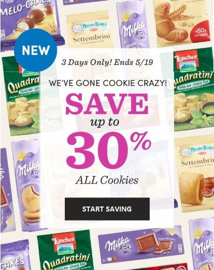 Up to 30% Off All Cookies from Cost Plus World Market