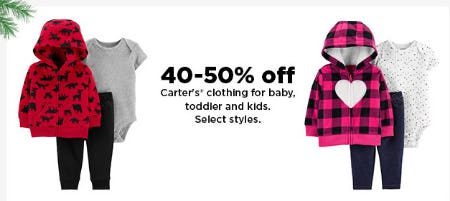 40-50% Off Carter's from Kohl's