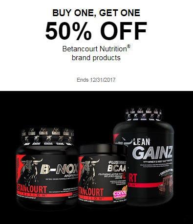 BOGO 50% Off Betancourt Nutrition