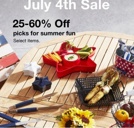 25-60% Off July 4th Sale