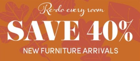 40% Off New Furniture Arrivals from Cost Plus World Market