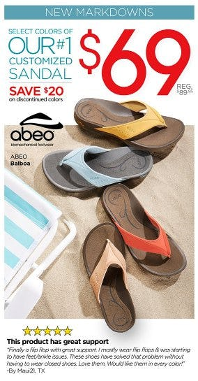 Our #1 Sandal Now $69 from THE WALKING COMPANY