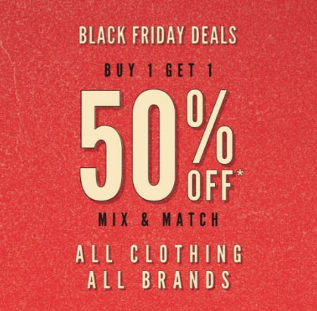 BOGO 50% Off Black Friday Deals from Tillys