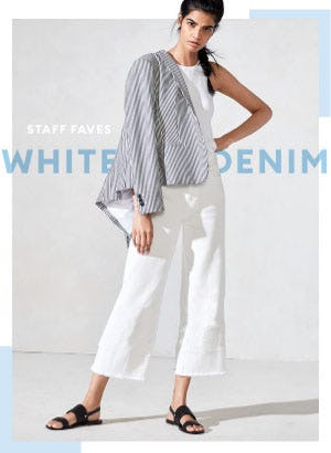 Staff Faves White Denim from Banana Republic