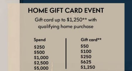 Home Gift Card Event from Neiman Marcus