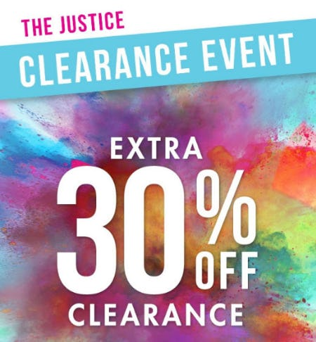 Extra 30% Off Clearance from Justice