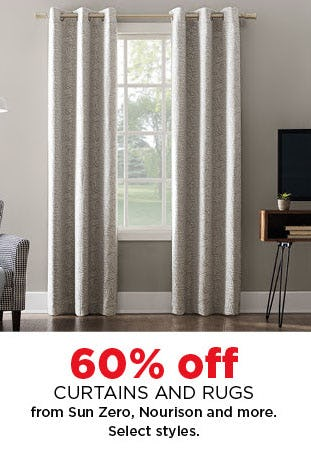 60% Off Curtains & Rugs from Kohl's