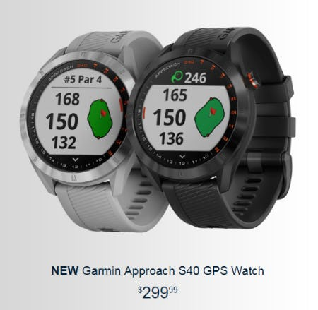 New Garmin Approach S40 GPS Watch from Golf Galaxy