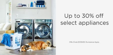 Up to 30% Off Select Appliances from Sears