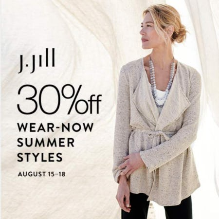 30% off Wear-Now Summer Styles from J.Jill