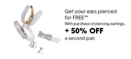 Free Ear Piercing with the Purchase of a Pair of Piercing Earrings from Piercing Pagoda