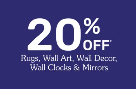 20% Off Rugs, Wall Art & More at Pier 1 Imports | The Maine Mall
