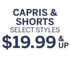 Capris & Shorts $19.99 & Up from Dressbarn
