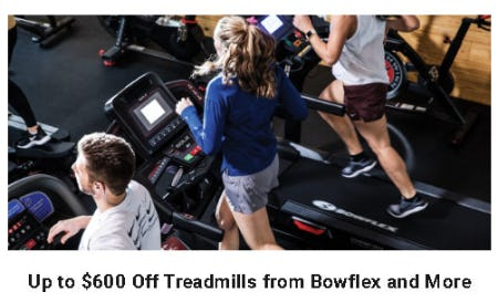 Up to $600 Off Treadmills from Bowflex and More from Dick's Sporting Goods