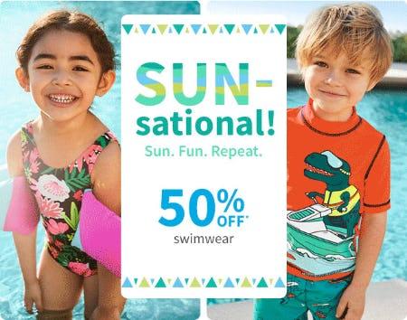 50% Off Swimwear from Carter's