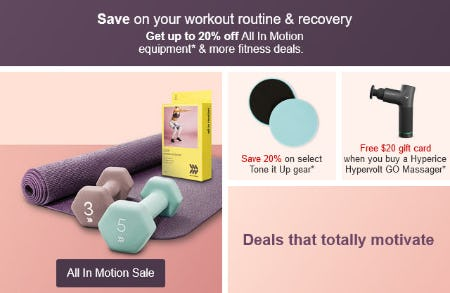 Up to 20% Off All In Motion Equipment & More Fitness Deals