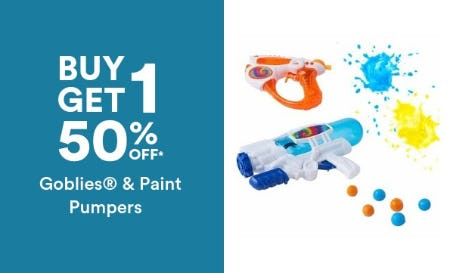 B1G1 50% Off Goblies & Paint Pumpers from Michaels