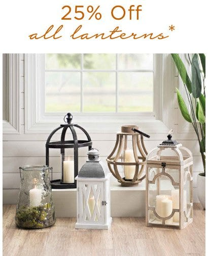 25% Off All Lanterns from Kirkland's