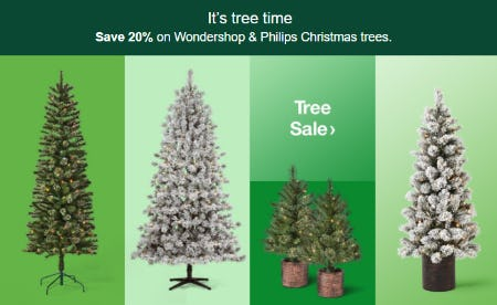 Save 20% on Wondershop & Philips Christmas Trees from Target