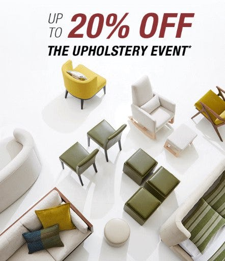 The Upholstery Event up to 20% Off from Crate & Barrel