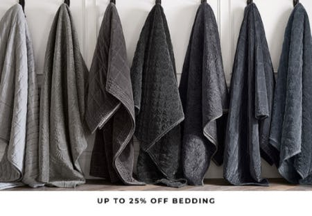 Up to 25% Off Bedding from Pottery Barn
