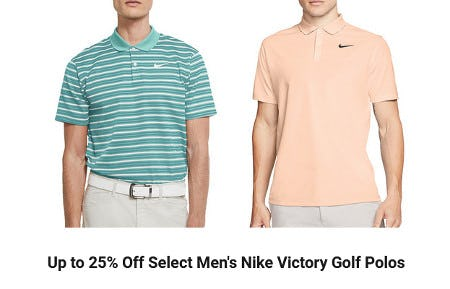 Up to 25% Off Select Men's Nike Victory Golf Polos from Dick's Sporting Goods