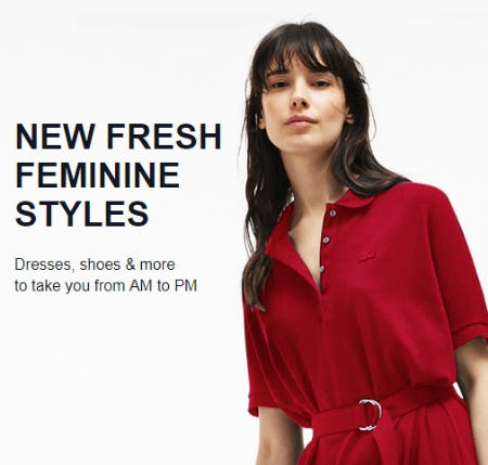 New Fresh Feminine Styles from Lacoste