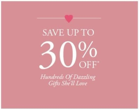 Up to 30% Off Hundreds of Dazzling Gifts She'll Love