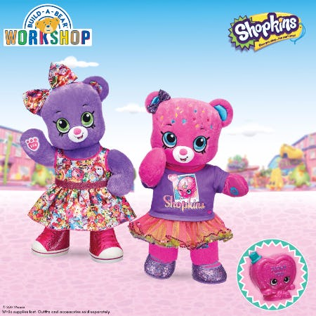 New Shopkins Furry Friends at Build-A-Bear Workshop!