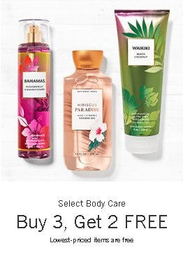 Select Body Care Buy 3, Get 2 Free from Bath & Body Works