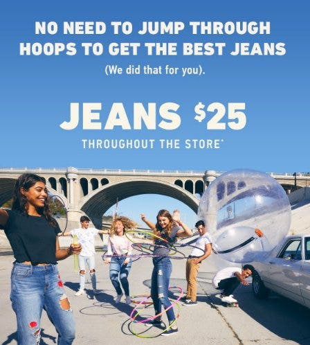 Jeans $25 Throughout The Store from Hollister Co.
