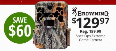 $60 Off Browning Spec Ops Extreme Game Camera from Cabela's