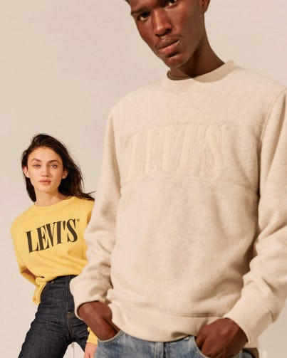 The New '90s-Inspired Serif Logo from The Levi's Store