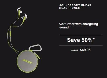50% Off SoundSport In-Ear Headphones