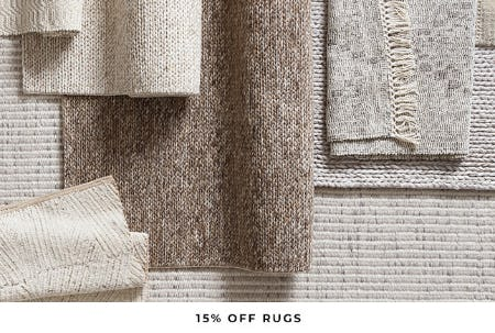 15% Off Rugs from Pottery Barn