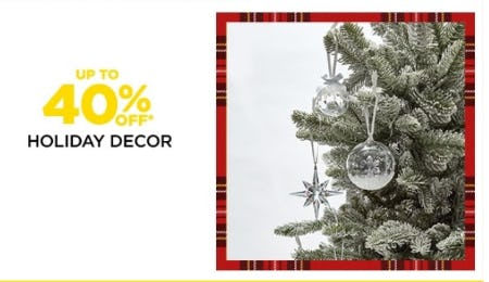 Up to 40% Off Holiday Decor