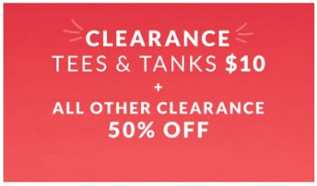 Clearance Tees & Tanks $10 from Lane Bryant