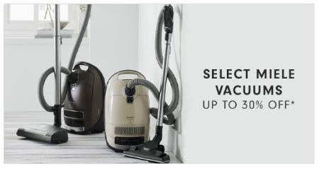 Select Miele Vacuums up to 30% Off from Williams-Sonoma