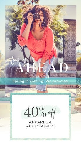40% Off Apparel & Accessories from Lane Bryant