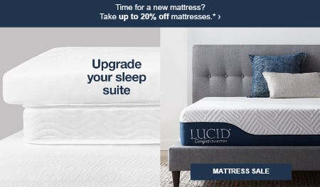 Up to 20% Off Mattress Sale from Target