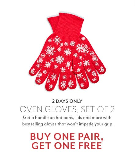 BOGO Free Oven Gloves from Sur La Table