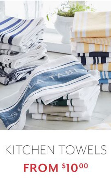 Kitchen Towels from $10.00 from Sur La Table