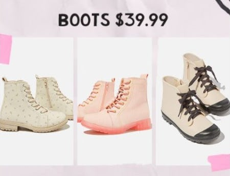 Boots for $39.99 from Cotton On Kids